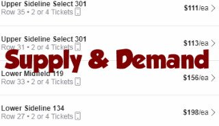 Ticket Supply and Demand is Important to Understand